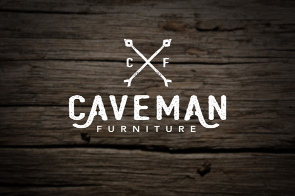 Caveman Furniture Logo Design